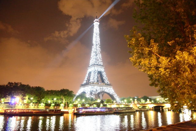 Free Eiffel Tower Photo Night Photography Sparcle